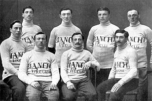 Bianchi (cycling team) - The Bianchi–Pirell team of the 1911 Giro d'Italia
