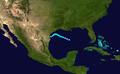 1945 Atlantic tropical storm 2 track.png