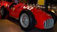 Photo d'une Ferrari 375 F1.