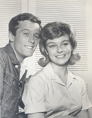 Patty McCormack - McCormack with Peter Fonda in the photo release of the television series The New Breed, 1962
