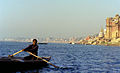 1 Varanasi, Rower on the Ganges, September 2013.jpg