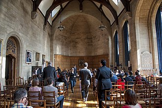 Rhodes House - The great hall (Milner Hall) in Rhodes House, being used for the Price Moot Court competition