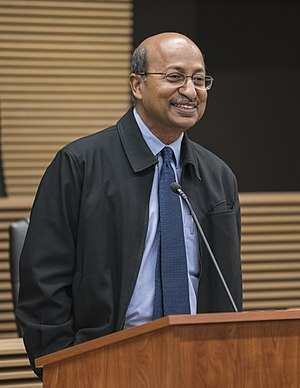 V. K. Rajah - V. K. Rajah giving a speech at SMU School of Law in 2017. He has been chairman of the school's advisory board since 2017.
