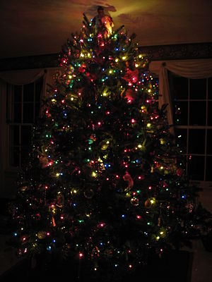 A Christmas tree in Altoona, Pennsylvania