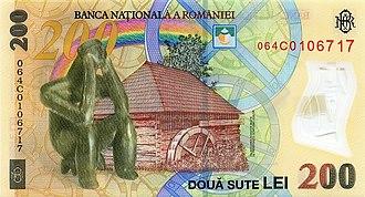 Two hundred lei - Image: 200 lei. Romania, 2006 b