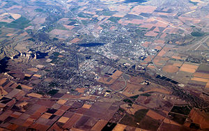Scottsbluff, Nebraska - Aerial view of Scottsbluff.