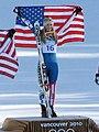 2010 Winter Olympic - Lindsey Vonn downhill gold medal.JPG