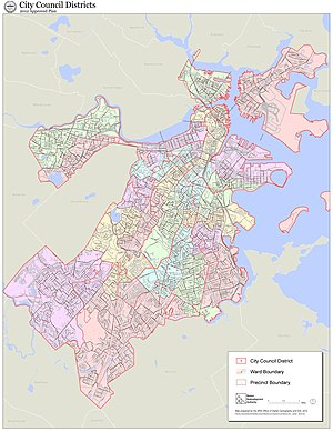 Boston City Council - City Council District electoral map, 2012