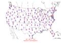 2013-04-12 Max-min Temperature Map NOAA.png