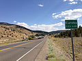 2014-09-09 15 21 26 View east along U.S. Route 50 about 36.3 miles east of the Lander County line entering Eureka, Nevada.JPG