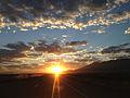 2014-09-15 06 32 15 View east during sunrise along Interstate 80 near milepost 335 near Deeth, Nevada.JPG