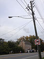 2014-11-01 17 03 38 Utility pole and street light along Ross Avenue in Fairview Township, Pennsylvania.JPG