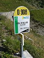 2014 Mountain pass cycling milestone - Col d'Allos Barcelonnette 3,4.jpg