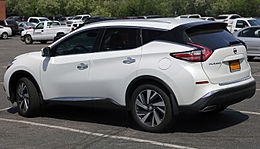 2015 Nissan Murano SV AWD, rear left side.jpg