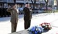 20160415 General Salvatore Farina and General Raimonds Graube during the flower laying ceremony at the COL Oskars Kalpaks Memorial in Latvia. (26408065292).jpg