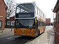 2018-04-06 Sanders bus outside Sheringham railway station (North Norfolk Railway).JPG