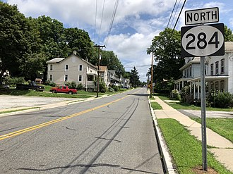 New Jersey Route 284 - View north at the south end of Route 284 at Route 23 in Sussex