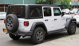 2018 Jeep Wrangler Unlimited Sport 4-door rear 6.10.18.jpg