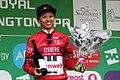 2018 Women's Tour stage 3 021 Coryn Rivera sprints jersey.JPG