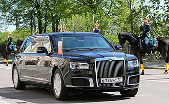 Fourth inauguration of Vladimir Putin - Aurus Senat limousine on inauguration.
