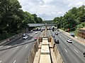 2019-07-11 13 13 38 View west along Interstate 495 (Capital Beltway) from the overpass for Seminary Road along the edge of Silver Spring and Forest Glen in Montgomery County, Maryland.jpg