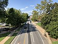 2019-08-08 16 27 52 View north along U.S. Route 29 Business (Emmet Street) from the pedestrian overpass just north of McCormick Road within the University of Virginia in Albemarle County, Virginia.jpg