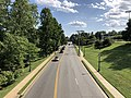 2019-08-08 16 41 32 View south along U.S. Route 29 Business (Emmet Street) from the pedestrian overpass just south of Massie Road within the University of Virginia in Charlottesville, Virginia.jpg