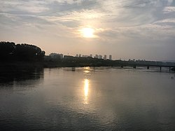 201906 Sunrise of Dangtu over Shuiyang River.jpg