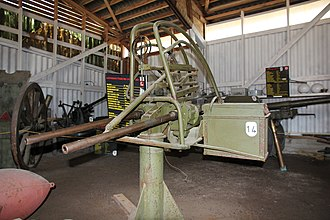 MG 151 cannon - Two MG 151/20 cannon fitted to a Finnish TorKK MG-151 2 anti-aircraft mounting. Cannons of Torp museum (2011)
