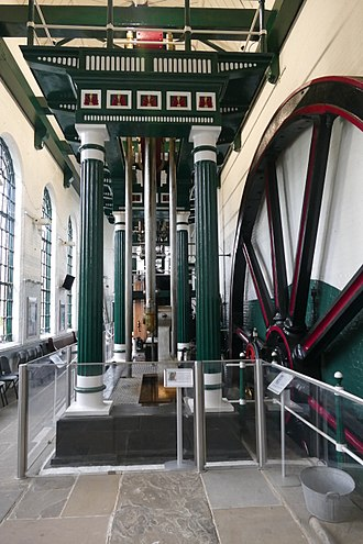 Markfield Beam Engine and Museum - The 27 ft flywheel on display