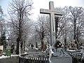 28. Bucuresti, Romania. Din Ciclul BUCURESTIUL SUB ASEDIUL FRIGULUI, Ianuarie 2019. Cimitirul Bellu Catolic. (Un alt om singuratic).jpg
