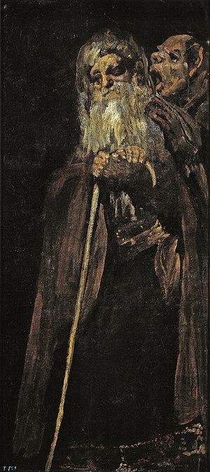 Two Old Men - Image: 2 alte Männer, um 1821 23