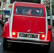 Citroën 2CV Dolly from behind