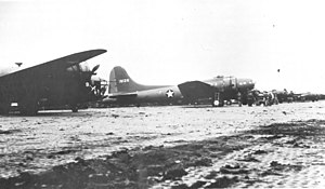 Cape Air Force Base - 36th Bombardment Squadron LB-30 Liberator and a Boeing B-17E Fortress (41-9126) at Fort Glenn AAB, June 1942.