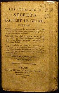 <i>Grand Albert</i> Medieval magic book