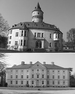 Gottfried von Cramm - Castle Oelber, the family's summer estate and Castle Brüggen, where Cramm grew up.