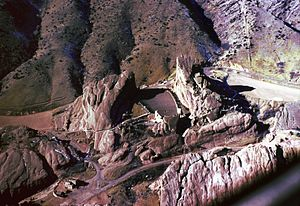 Red Rocks Amphitheatre - Aerial view of Red Rocks Amphitheatre, January 1966