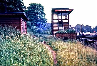 Buxton line - Chapel en le Frith South signal box in 1967. It was rebuilt after the 1957 accident.