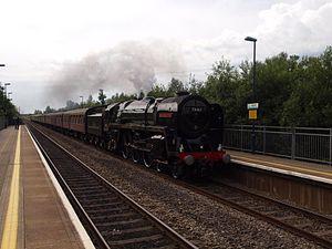 Baglan railway station - 70013 Oliver Cromwell at Baglan railway station