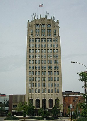 Jackson, Michigan - Jackson County Tower, Jackson's tallest building.
