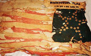 80th Illinois Volunteer Infantry Regiment - Recruiting flag