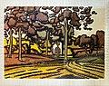 81 - Maison derriere les arbres - Georges Gaudions - Encre et aquarelle sur papier - Musée du Pays rabastinois - inv.D.2005.1.7.jpg