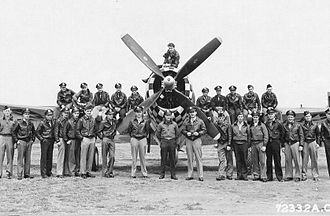 83d Fighter Weapons Squadron - Pilots of the 83rd Fighter Squadron, 78th Fighter Group, 8th Air Force on July 5, 1944.