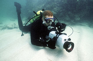 Underwater videography The branch of electronic underwater photography concerned with capturing moving images