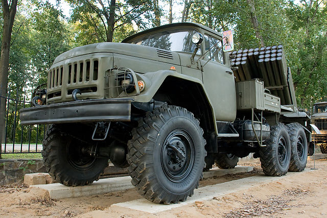 another precursor, the Zil-131 also used as the 9P138 rocket launcher system
