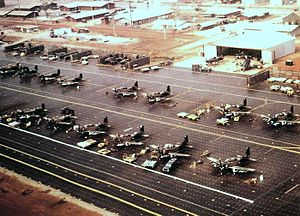 56th Fighter Wing - Douglas Skyraiders of the 1st and 602nd Squadrons at Nakhon Phanom