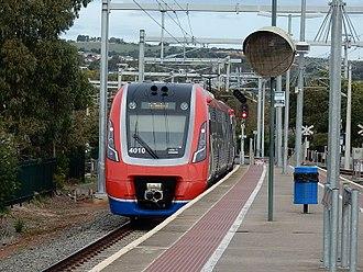Railway electrification in Australia - An A-City train at Brighton station