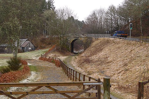 A827 crosses the Rob Roy Way - geograph.org.uk - 2312602