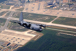 An AC-130U Spooky over Hurlburt Field.