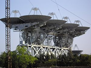 Soviet Deep Space Network - One of two receiver antennas of the North station.